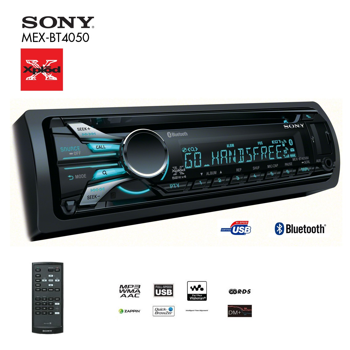 sony bt4050 bluetooth car stereo big ed. Black Bedroom Furniture Sets. Home Design Ideas