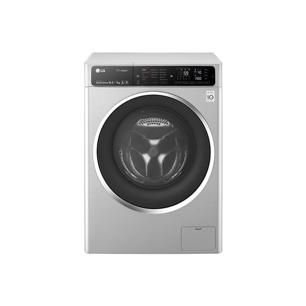 Lg 10 5 7kg 1400 Rpm Front Load Washer Dryer Silver Fh4u1jbhk6n Big Ed